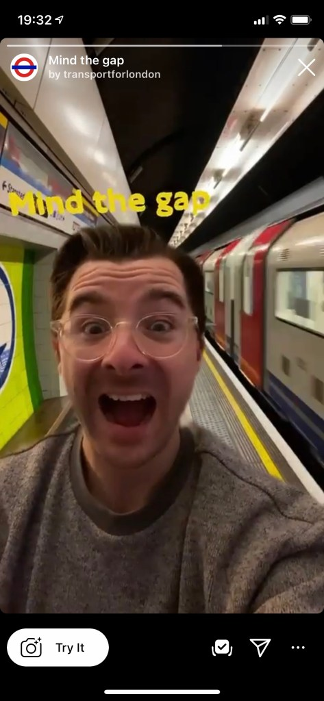Mind the gap AR filter demo