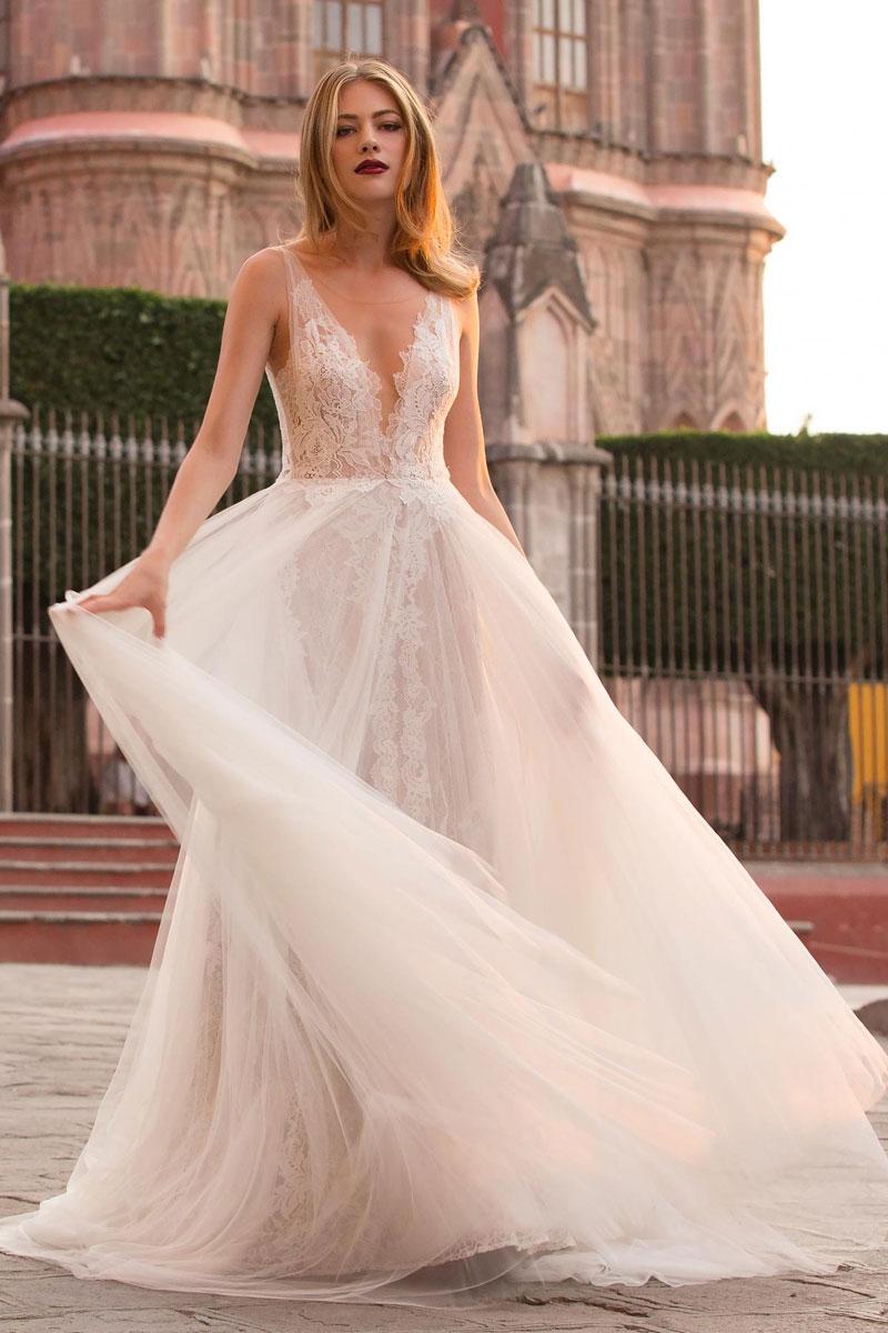 Light Grey Wedding Dress