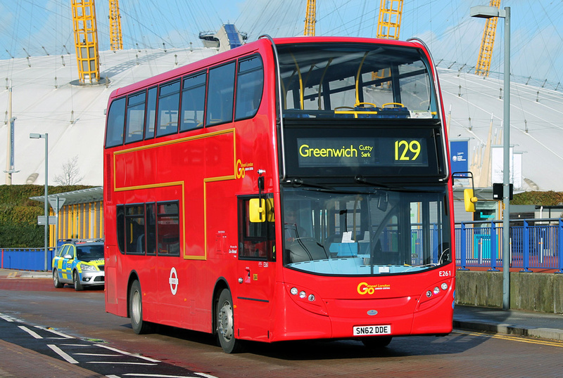 London Bus Routes  Route 129 Greenwich Cutty Sark