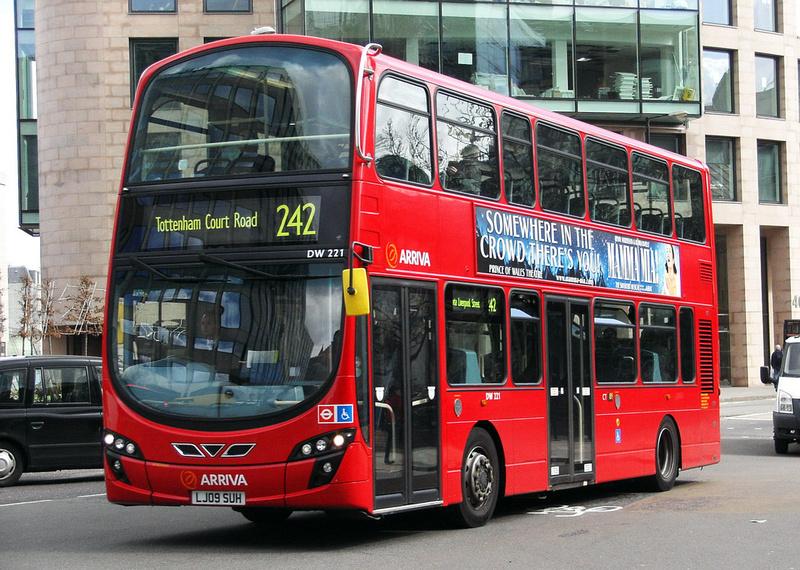 London Bus Routes  Route 242 Homerton Hospital  St Pauls
