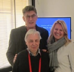 Karel van Delft (top), Richard James and Dijana Dengler
