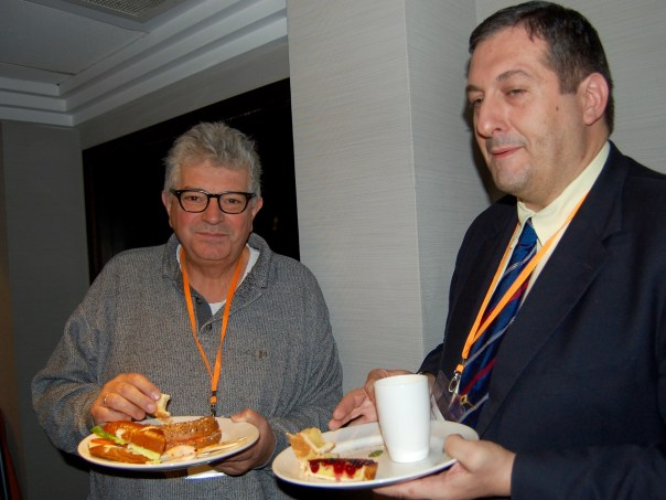 Jorge Silva (Portugal) and Luis Blasco (Spain) at the London Chess Conference