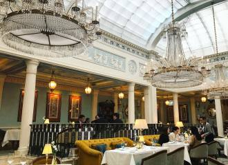 Celeste restaurant at the 5 star Lanesborough Hotel in London