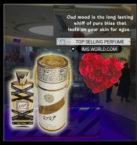 Original Oud Mood 100ml By Lattafa Floral Notes Ambery Musky Woody Perfume Spray