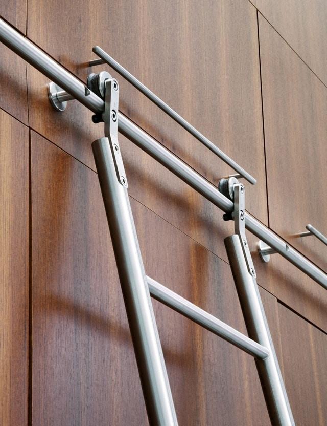 Library ladder In Designer Kitchen