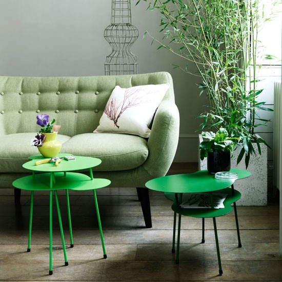 How to style your home to sell - Green Living Room - Photograph by Damian Russell