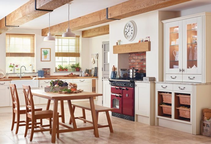 How To Give Your Kitchen A Modern Country Feel - Country Kitchen With Range Cooker