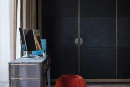 4 Reasons To Choose Bespoke Home Storage Furniture - Image Via Livingetc.com - bespoke by Daniel Hopwood, Wrapped In An Alcantara Fabric.