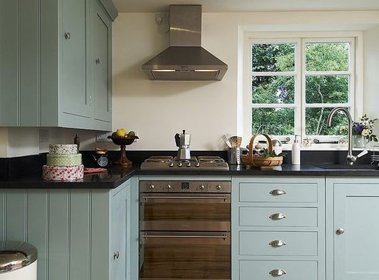 5 Budget-Friendly House Renovations - Painted Kitchen - Image From IdealHome.co.uk