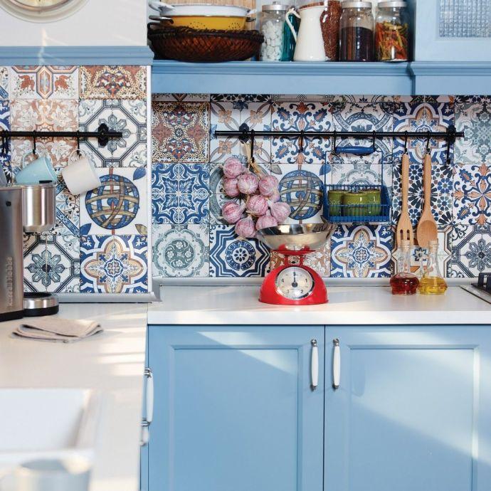 4 Inspiring Patterned Tile Ideas - Nikea Matt Multi Colour Porcelain Wall & Floor Tiles