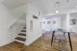 Modern white basement conversion