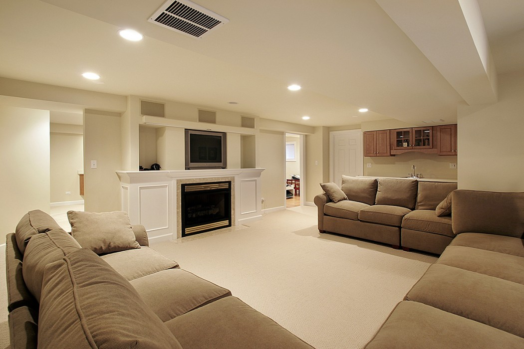 Living room. TV room in basement.