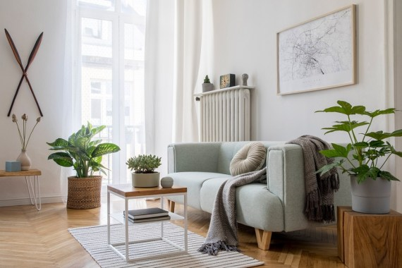 Scandi living room with neutral decor