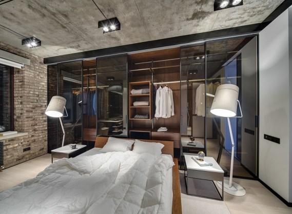 Designer bedroom with cliding wadrobe doors