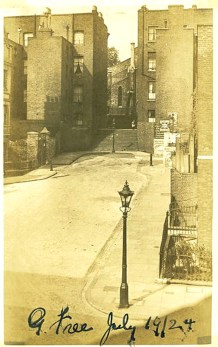 Gwynne Place with Riceyman Steps in 1924