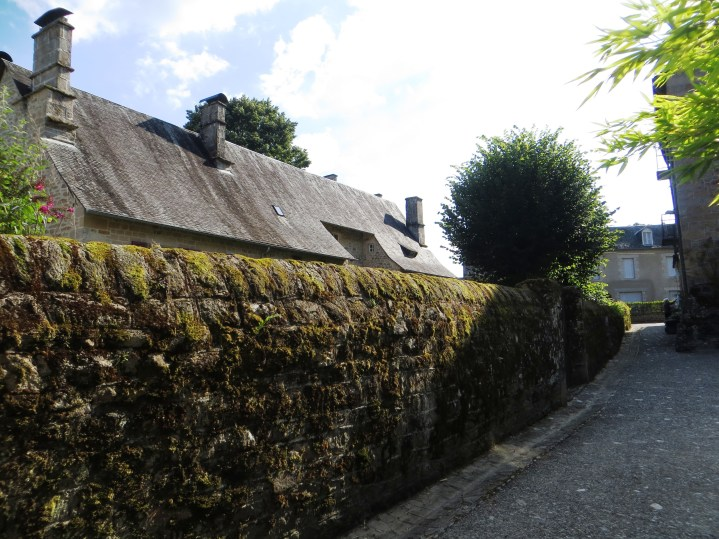 The wall of the house in Rue Barry