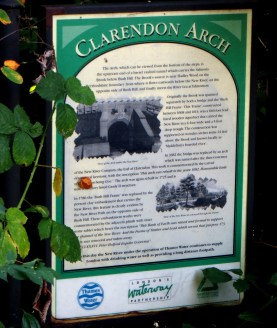 Information Board about the Clarendon Arch