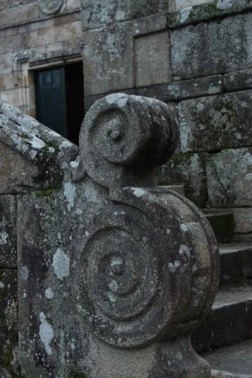 Granite balustrade at the Church of San Benito, Cambados