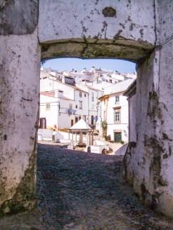 Old Gateway into Castelo de Vide, at the Town Fountain