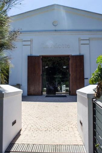 The wine tasting hall at La Motte
