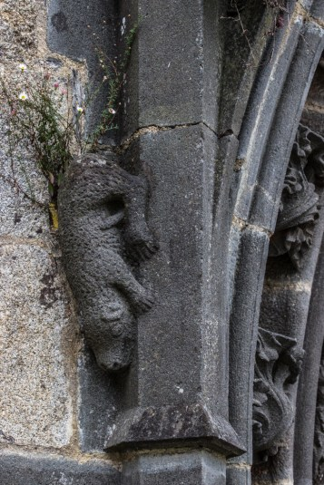Carvings on the Arch of the South Porch, St Suliau, Sizun