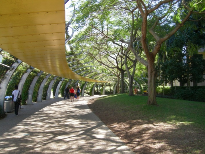 The architecturally-stunning walkway in Southbank