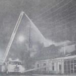 Firemen battle blaze at Velvet Touch