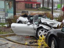 Three people were taken to hospital after a multi-vehicle crash Monday afternoon at the intersection of Highbury Ave. and Dundas St. (SCOTT TAYLOR, The London Free Press)