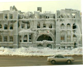 YMCA after the fire - Jan 4, 1981 (Carri Rodgers-Rowley)
