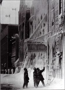 The London YMCA fire aftermath Jan 4, 1981 (from the book - The History of the London Fire Department : of heroes, helmets and hoses)