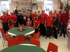On the 10th Day of the 12 Days of Christmas.... a big big thank you to the Kayser Family Foundation sponsoring and the London Fire Service for volunteering to serve the meals tonight!
