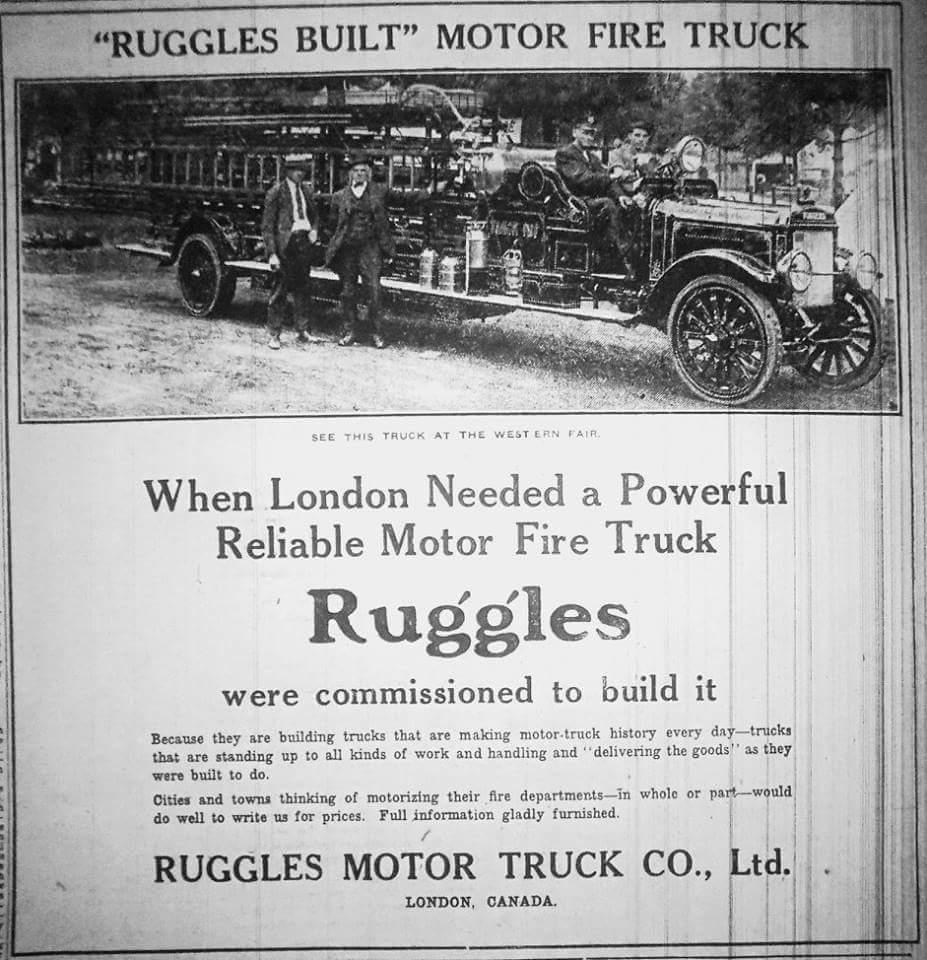 Ruggles Fire Truck advertisement