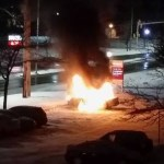 Car fire near Westmount