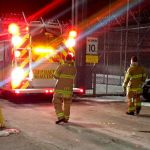 Guard injured in jail fire