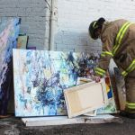 Core blaze damages art