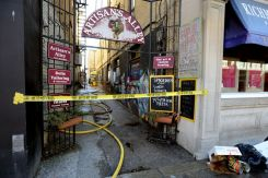 Artisan's Alley at 430 Richmond St. in London on Wednesday, March 29, 2017. Firefighters were called to a blaze at the downtown building about 4:45 a.m. (MORRIS LAMONT, The London Free Press)