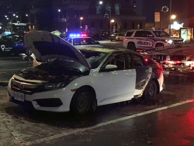 One charged in downtown car explosion