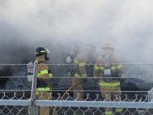 London firefighters battle a fire at Hully Gully on Wharncliffe Rd., December 28, 2017. (Photo by Miranda Chant, Blackburn News)