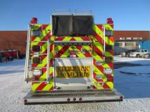 Rear photo of new Pumper Rescue