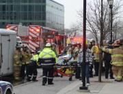 EMS assist patient on stretcher