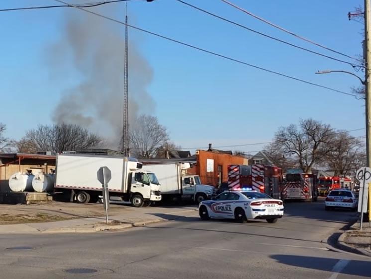 Fire on Bathurst Street
