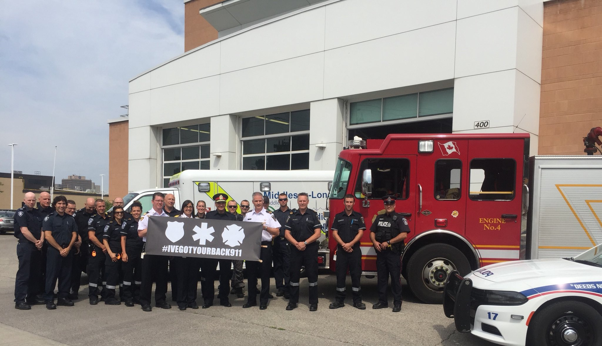 Thank you to @MLPS911 @lpsmediaoffice @LPFFA for coming today to recognize importance of peers #ivegotyourback911 #MentalHealthAwareness