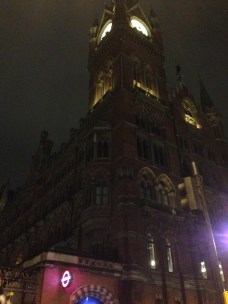 Outside of St. Pancras station after the Felabration.