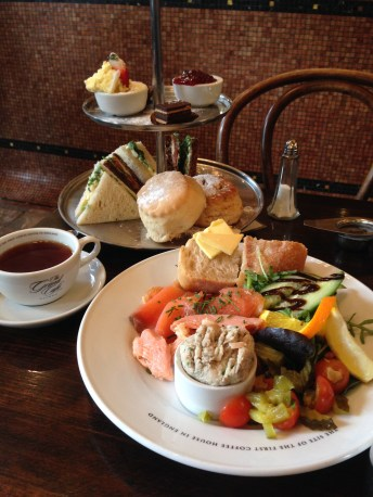 Our half afternoon tea, half fish plate for lunch!