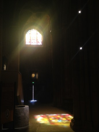 Catching light in the abbey