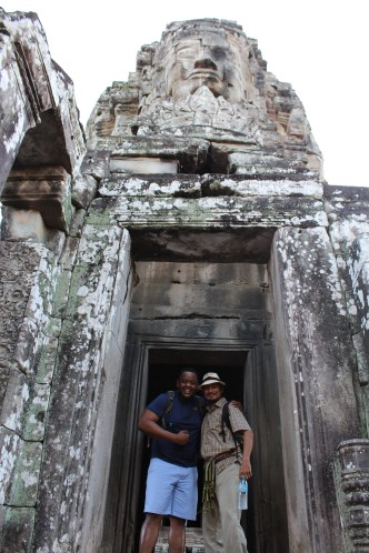 Corey and Soriya, our guide. He lost most of his aunties and uncle sin the Civil War but his parents survived as well as his grandparents. Now he uses his tour guide time to educate tourists about the Khmer Rouge and the country's more recent history.