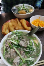 Pho Bo for breakfast and those little dough things were yummy to have in your soup.