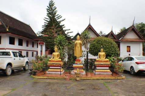 The old and the new- Buddha and a car park