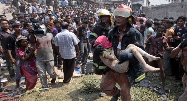 People rescued from Bangladesh Factory