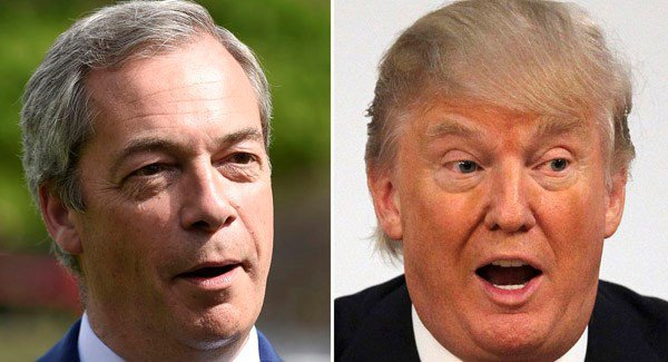 Nigel Farage and Republican Donald Trump